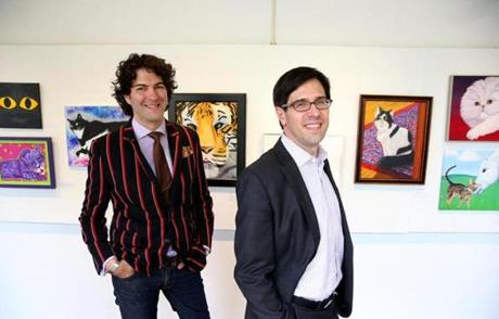 Adam Rozan (left), director of audience engagement at Worcester Art Museum, and Jon Seydl, director of curatorial affairs.